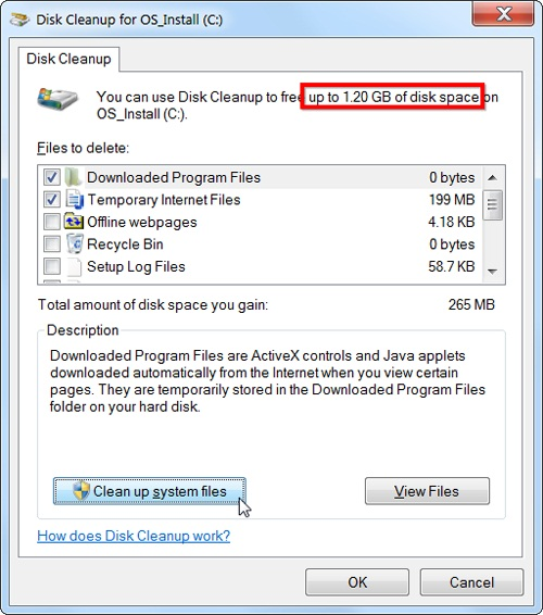 chon nut disk cleanup